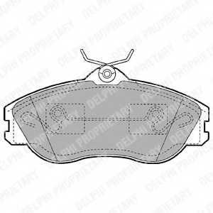 Колодки тормозные дисковые для AUDI 100(44,44Q,4A,C3,C4), 80(8C,B4), 90(89,89Q,8A,B3), CABRIOLET(8G7,B4), COUPE(89,8B) <b>DELPHI LP1445</b> - изображение