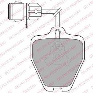 Колодки тормозные дисковые DELPHI LP1463 - изображение