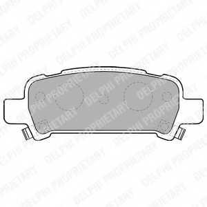 Колодки тормозные дисковые для SUBARU FORESTER(SF), IMPREZA(GC, GD, GF, GFC, GG), LEGACY(B13#, BE, BH, BL, BM, BP, BR), OUTBACK(BE, BH) <b>DELPHI LP1509</b> - изображение