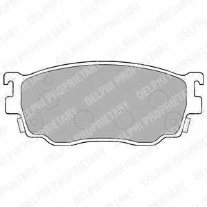 Колодки тормозные дисковые для MAZDA 323 F(BJ), 626(GF,GW), FAMILIA(BJ) <b>DELPHI LP1527</b> - изображение