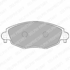 Колодки тормозные дисковые для FORD MONDEO(B4Y,B5Y,BWY) <b>DELPHI LP1533</b> - изображение