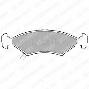 Колодки тормозные дисковые DELPHI LP1630 - изображение