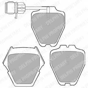 Колодки тормозные дисковые DELPHI LP1633 - изображение