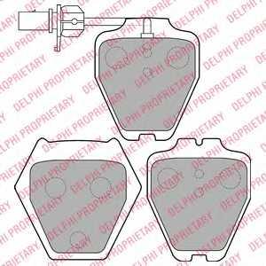 Колодки тормозные дисковые для AUDI A4(8D2,8D5,B5), A6(4B2,4B5,C5), ALLROAD(4BH,C5) <b>DELPHI LP1703</b> - изображение