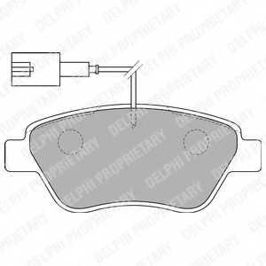 Колодки тормозные дисковые DELPHI LP1722 - изображение