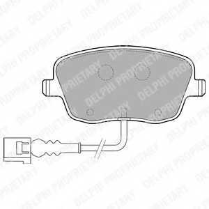 Колодки тормозные дисковые DELPHI LP1754 - изображение
