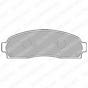 Колодки тормозные дисковые DELPHI LP1757 - изображение
