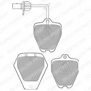 Колодки тормозные дисковые для AUDI A6(4B2,4B5,C5) <b>DELPHI LP1760</b> - изображение
