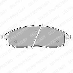 Колодки тормозные дисковые для NISSAN MURANO(Z50), PATHFINDER(R51), PICKUP(D22) <b>DELPHI LP1772</b> - изображение
