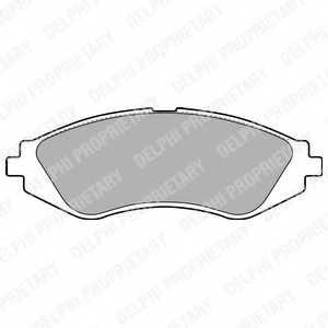 Колодки тормозные дисковые DELPHI LP1779 - изображение