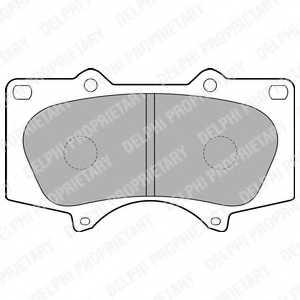 Колодки тормозные дисковые DELPHI LP1782 - изображение