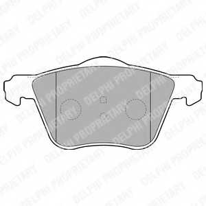 Колодки тормозные дисковые DELPHI LP1787 - изображение