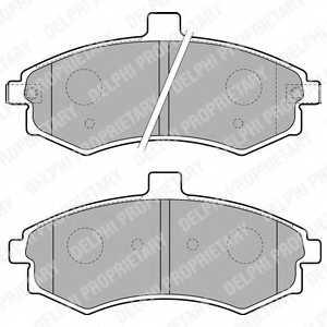 Колодки тормозные дисковые для HYUNDAI ELANTRA(XD), MATRIX(FC) <b>DELPHI LP1788</b> - изображение