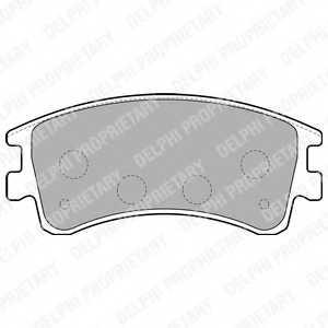 Колодки тормозные дисковые DELPHI LP1799 - изображение