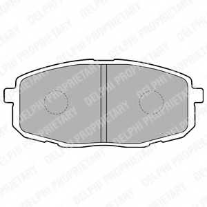 Колодки тормозные дисковые для HYUNDAI i30 CW(FD), i30(FD) / KIA CARENS(FJ), CEED(ED), PRO CEED(ED) <b>DELPHI LP1819</b> - изображение
