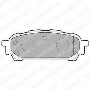 Колодки тормозные дисковые DELPHI LP1822 - изображение