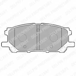 Колодки тормозные дисковые DELPHI LP1823 - изображение