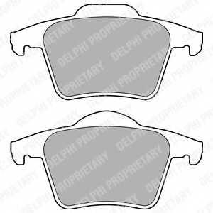 Колодки тормозные дисковые DELPHI LP1835 - изображение