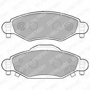 Колодки тормозные дисковые DELPHI LP1840 - изображение