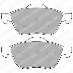 Колодки тормозные дисковые DELPHI LP1844 - изображение