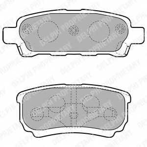 Колодки тормозные дисковые DELPHI LP1852 - изображение