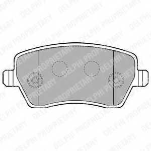 Колодки тормозные дисковые DELPHI LP1865 - изображение