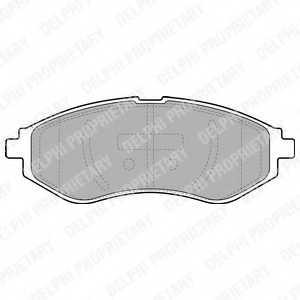 Колодки тормозные дисковые DELPHI LP1895 - изображение