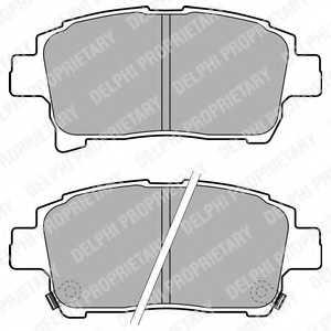 Колодки тормозные дисковые для TOYOTA COROLLA(#E12J#,#E12T#), IQ(KGJ1#,KPJ1#,NGJ1#,NUJ1#) <b>DELPHI LP1896</b> - изображение