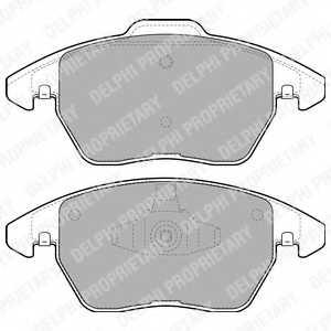 Колодки тормозные дисковые DELPHI LP1898 - изображение