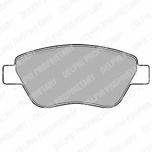 Колодки тормозные дисковые DELPHI LP1899 - изображение