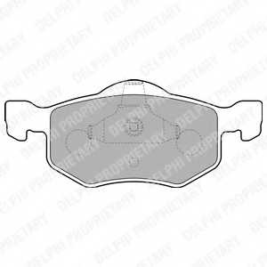 Колодки тормозные дисковые DELPHI LP1900 - изображение