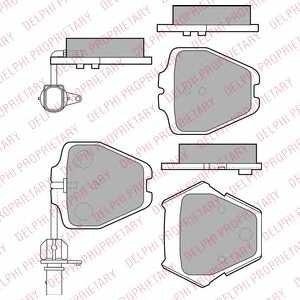 Колодки тормозные дисковые DELPHI LP1903 - изображение