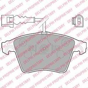 Колодки тормозные дисковые DELPHI LP1914 - изображение