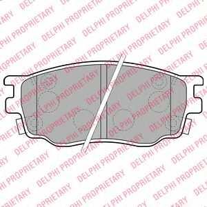 Колодки тормозные дисковые для MAZDA 6(GG,GY) <b>DELPHI LP1916</b> - изображение