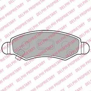Колодки тормозные дисковые для OPEL AGILA(A) / SUZUKI WAGON R+(MM) <b>DELPHI LP1919</b> - изображение