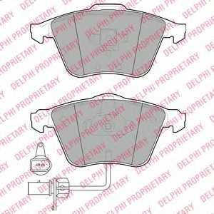 Колодки тормозные дисковые для AUDI A4(8E2, 8E5, 8EC, 8ED, 8H7, 8HE, 8K5, B6, B7, B8), A6(4B2, 4B5, 4F2, 4F5, 4FH, C5, C6), A8(4E#) <b>DELPHI LP1922</b> - изображение