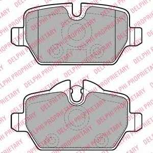 Колодки тормозные дисковые DELPHI LP1924 - изображение