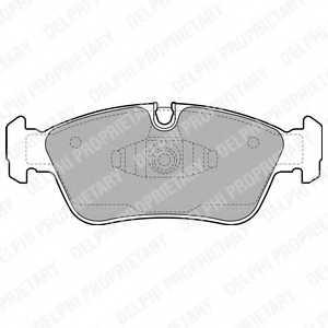 Колодки тормозные дисковые DELPHI LP1925 - изображение