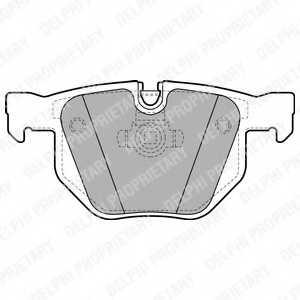 Колодки тормозные дисковые DELPHI LP1927 - изображение