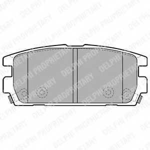 Колодки тормозные дисковые DELPHI LP1930 - изображение