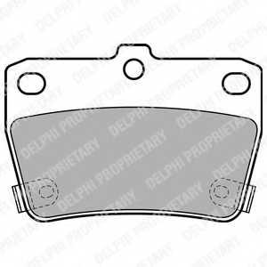 Колодки тормозные дисковые для TOYOTA RAV 4(ACA2#,CLA2#,XA2#,ZCA2#) <b>DELPHI LP1942</b> - изображение