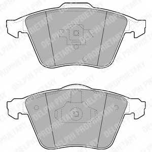 Колодки тормозные дисковые DELPHI LP1943 - изображение