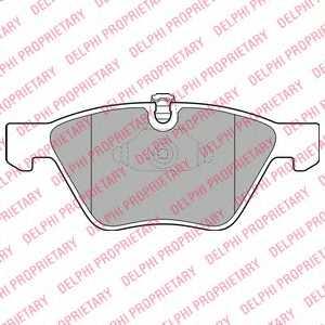 Колодки тормозные дисковые DELPHI LP1956 - изображение