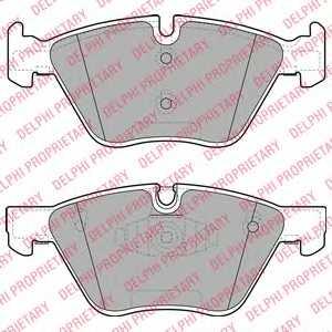 Колодки тормозные дисковые для BMW 1(E81,E82,E87), 3(E90,E91,E92) <b>DELPHI LP1960</b> - изображение