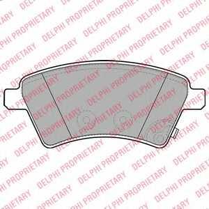 Колодки тормозные дисковые для FIAT SEDICI(FY#) / MITSUBISHI L 300(P0#W,P1#W,P2#W) / SUZUKI SX4(EY,GY) <b>DELPHI LP1966</b> - изображение