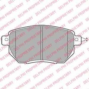Колодки тормозные дисковые DELPHI LP1986 - изображение