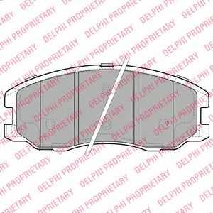 Колодки тормозные дисковые DELPHI LP1987 - изображение