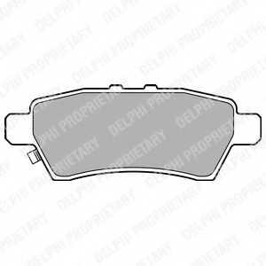 Колодки тормозные дисковые для NISSAN NAVARA(D40), PATHFINDER(R51) <b>DELPHI LP2016</b> - изображение