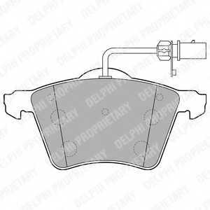 Колодки тормозные дисковые DELPHI LP2021 - изображение