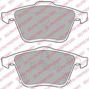 Колодки тормозные дисковые DELPHI LP2025 - изображение